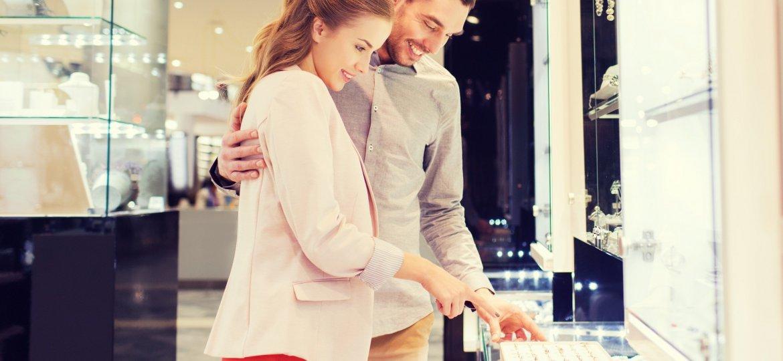 Couple Buying Jewelry